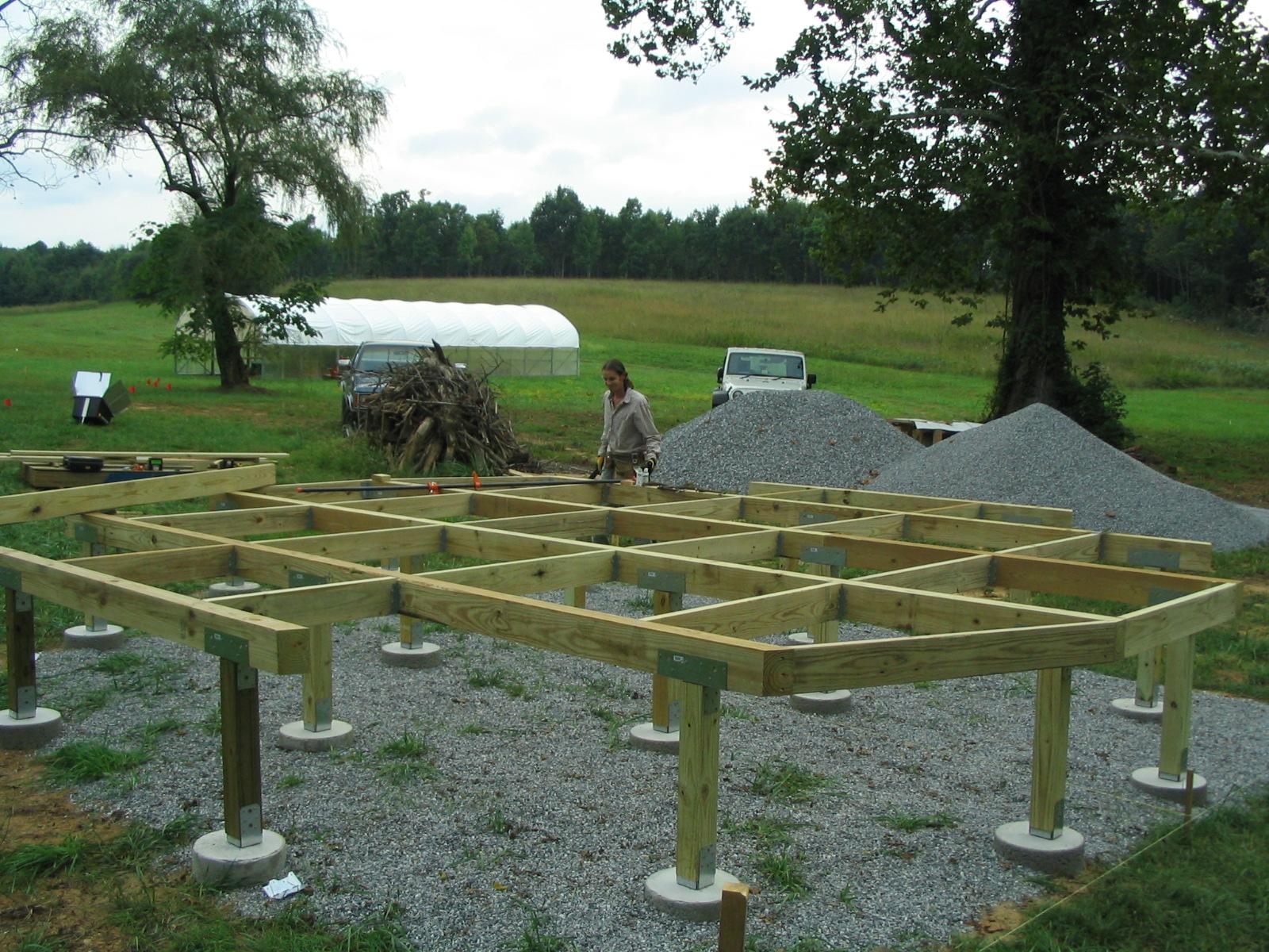 Yurt Deck Sandyfoot Farm