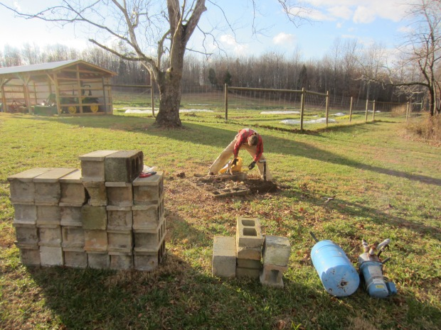 concrete blocks for re-use