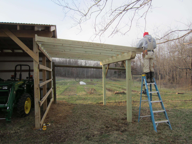 February 2013 sandyfoot farm Shed addition