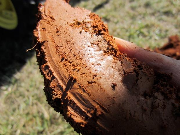 clay subsoil