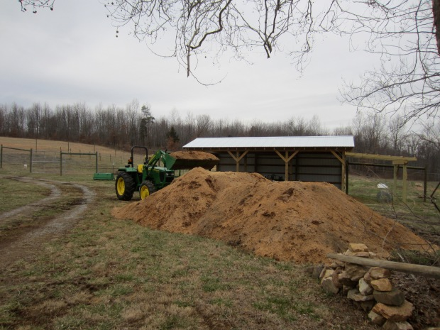 sawdust pile
