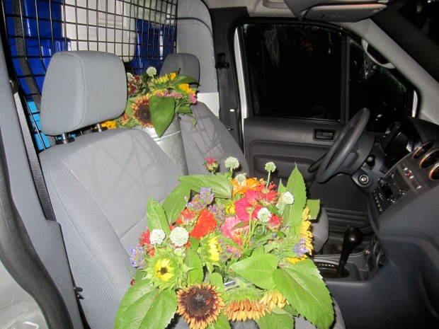 flowers up front